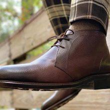 New Handmade Cowhide Leather Brown Chukka Boots