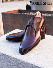 Handgrade Derby in Bordo Shadow shoes for men