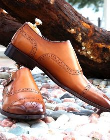 New Handmade Men's Oxford shoes in tan color, men shoes, formal shoes