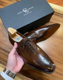 New Handmade Whole Cut Oxford calfskin shoes for men