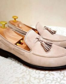 New Handmade Cowhide Suede Loafers for men