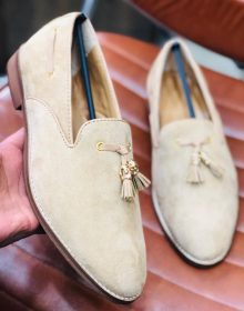 New Handmade Tassel loafer in cowhide leather form men, summer shoes