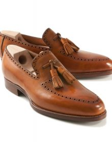 Men,S New Classic Brown Leather Shoes With Tassels Style, Luxury Shoes