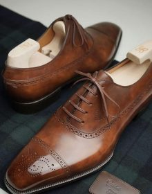 New Handmade cowhide leather wonderfully class & sleek looking Brown Oxford Shoes for men