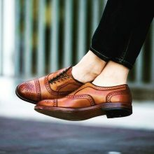 New Handmade Cowhide Leather Oxford Shoes for men, Brown Shoes